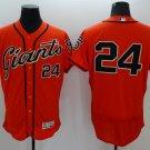 Men's  San Francisco Giants 24 Willie Mays Orange Flexbase Baseball Jersey