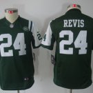 Youth New York Jets #24 Darrelle Revis football jersey green kids