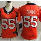Women's Denver Broncos 55# Bradley Chubb Limited Jersey Orange