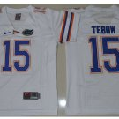 Youth Florida Gators 15 Tim Tebow White College Football Jersey