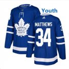 Youth Boys Toronto Maple Leafs #34 Auston Matthews Ice Hockey Jersey blue