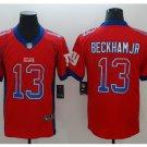 Men's Giants 13# Odell Beckham Jr Limited Jersey Red Drift Fashion