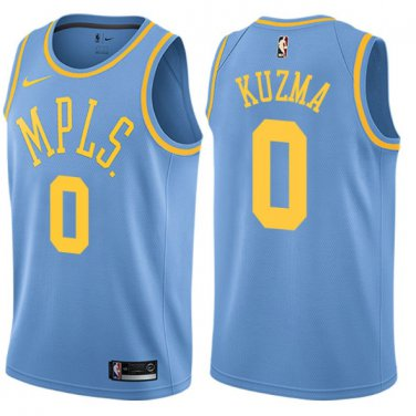 buy online db5e7 02355 Men's Los Angeles Lakers 0 Kyle Kuzma Blue MPLS Basketball ...