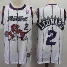 Mens Toronto Raptors #2 Kawhi Leonard Basketball Jersey White New