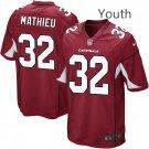Youth Arizona Cardinals #32 Tyrann Mathieu Cardinal Game Jersey Red
