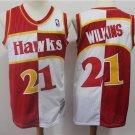 Men's Atlanta Hawks #21 Dominique Wilkins Red Basketball Jersey