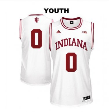 reputable site 08187 e04fc Youth Indiana Hoosiers #0 Romeo Langford White College ...