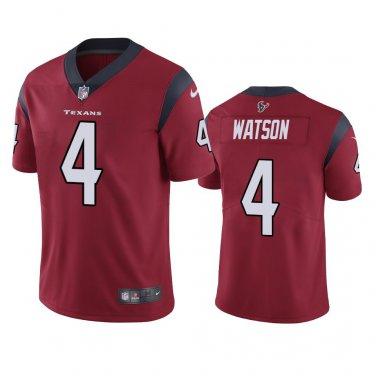 buy online 2addf 09694 Men's Deshaun Watson #4 Houston Texans Red Color Rush Jersey