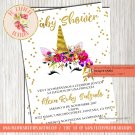Unicorn Baby Shower Invitation - UNI04