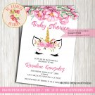 Unicorn Face Baby Shower Invitation - INV03
