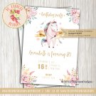 Unicorn Birthday Invitation - INV07