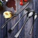 4PCS Black Western Food Dinnerware Stainless Steel (1035010)