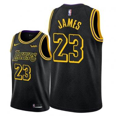 new concept a2e40 30fff Men's 18-19 Los Angeles Lakers LeBron James City Edition ...
