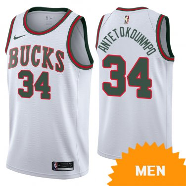 newest d7621 54aca Men's Milwaukee Bucks Giannis Antetokounmpo Classic Edition ...