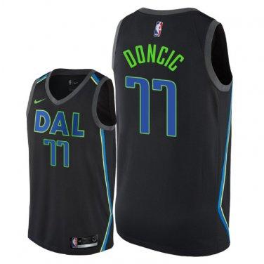 low priced bfef3 69ede Men's Dallas Mavericks Luka Doncic City Edition Jersey - Black