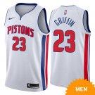 Men's Detroit Pistons Blake Griffin Association Edition Jersey - White
