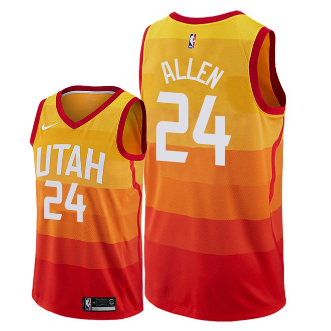 quality design 20a6e a641b Men's Utah Jazz Grayson Allen City Edition Jersey - Red