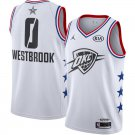 Men's Oklahoma City Thunder Russell Westbrook 2019 NBA All-Star White Game Jersey