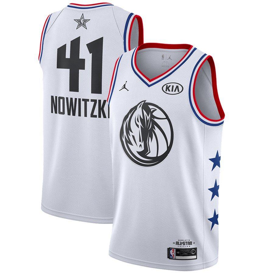 super popular d6f40 954b2 Men's Dallas Mavericks Dirk Nowitzki 2019 NBA All-Star White ...
