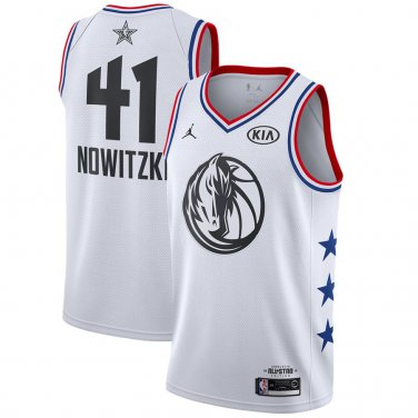 super popular 36cfb d2d6c Men's Dallas Mavericks Dirk Nowitzki 2019 NBA All-Star White ...