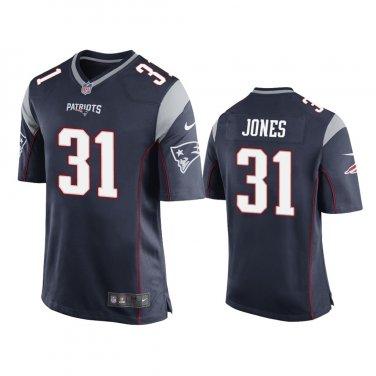 New England Patriots #31 Navy Men's Jonathan Jones Game Jersey