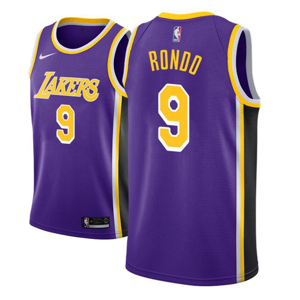 Men's Los Angeles Lakers #9 Rajon Rondo Statement Jersey Purple