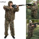 2 Pieces Ghillie Suit Woolland 3D Leaves Camo Camouflage Forest Hunting M5BD