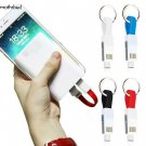 Portable Keychain Lightning/Micro/Type C Charger for Apple and Android M5BD