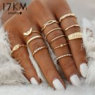 17KM 12 pc/set Charm Gold Color Midi Finger Ring Set for Women Vintage
