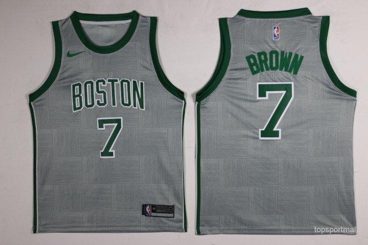 low priced 7577c 7bf7a Boston Celtics7 Jaylen Brown Hockey Jerseys color white 1