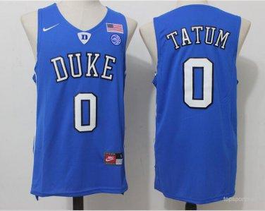 pretty nice 816f9 1bec9 Duke Blue Devils 0 Jayson Tatum basketball Jerseys color blue
