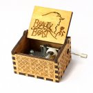 Creative Antique carved wooden Beauty And The Beast Hand crank music box