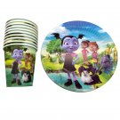 60PCS Vampirina Foil Glass Dishes Decorate Cups Plates Happy Party Supplies