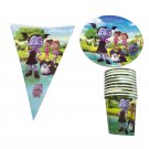 50pcs/lot Vampirina Foil Glass Dishes Cups Plates Flags Plates Party Supplies