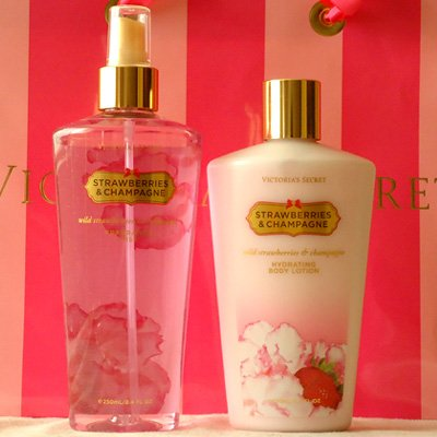 Victoria Secret Strawberries and Champagne body lotion & spray