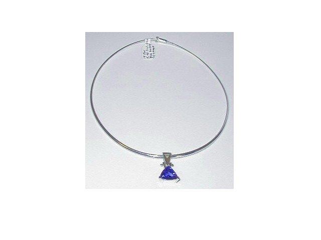 Trillion Cut Tanzanite and Diamond Necklace