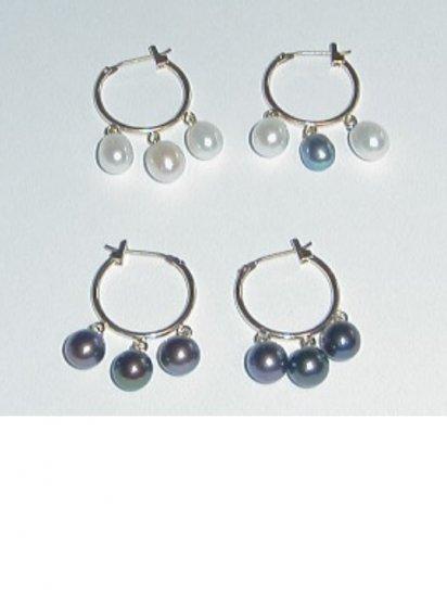 Fresh Water 3 Pearl Earrings
