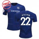 Chelsea Jersey 2018/19 Willian #22 Men Football Home Soccer Shirt Blue