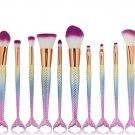 Makeup brush Glitter Mermaid Fishtail Makeup Brush Fishtail Shaped Foundation Powder Eyeshadow