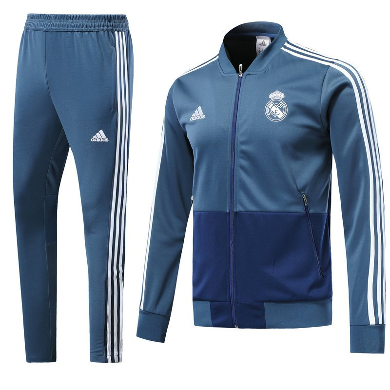 Real Madrid jackets and pants Blue 2019 football kits replica training