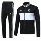 Real Madrid jackets and pants Black & White 2019 football kits replica training