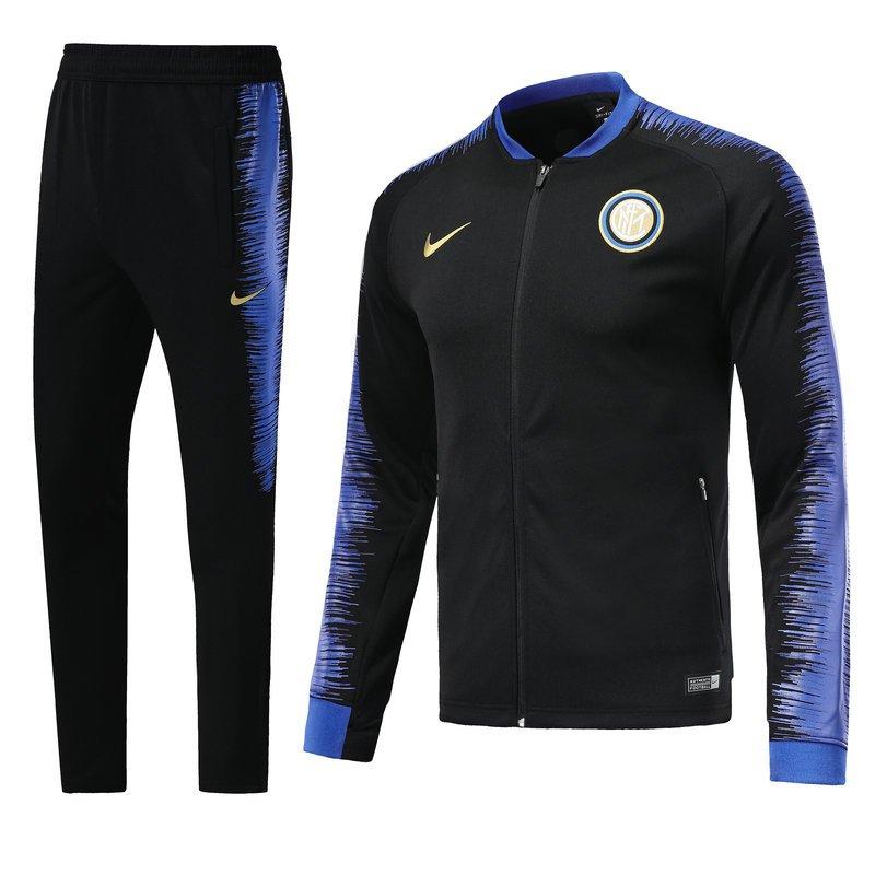 Inter De Milan fc jackets and pants Black 2019 football kits replica training