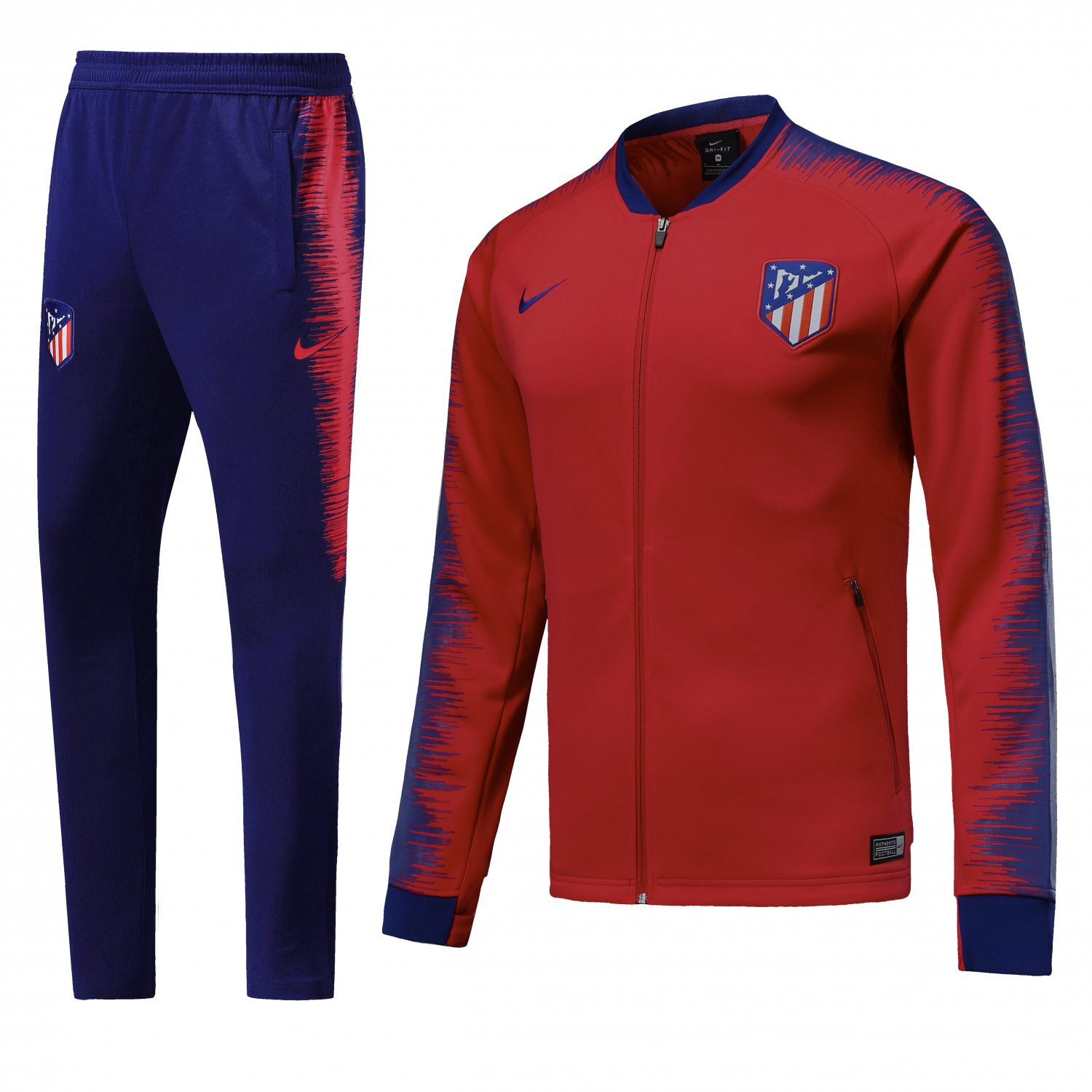 Atletico Madrid jackets and pants 2019 Men football Red kits replica training