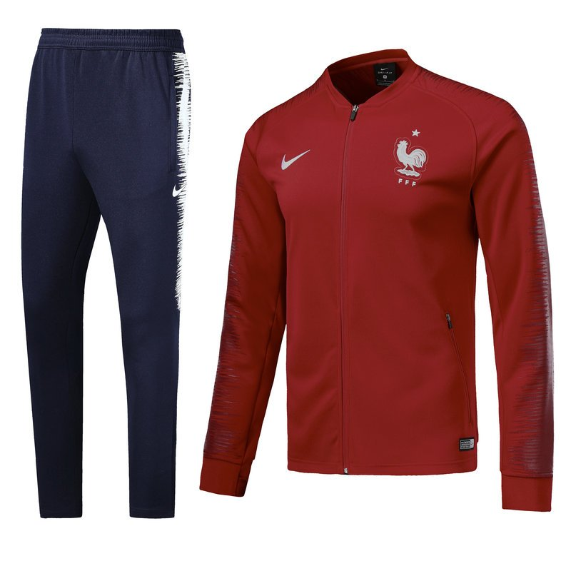 France 2018 World Cup Red (jackets and pants) kits replica training