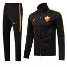 AS Roma Black jackets and pants 2019 Men football kits replica training