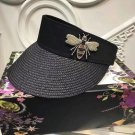 empty top hat, woman visor casual style Black