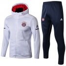 Bayern München White & Blue 18-19 Hoodies Pant kits Soccer Team replica training Shirt