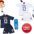 Morgan #13 Kids Young USA Soccer 2018-2019 Jerseys  & Shorts