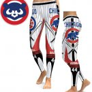 Leggings Sports Chicago Cubs  MLB Baseball Women  Team Yoga Gym 2017