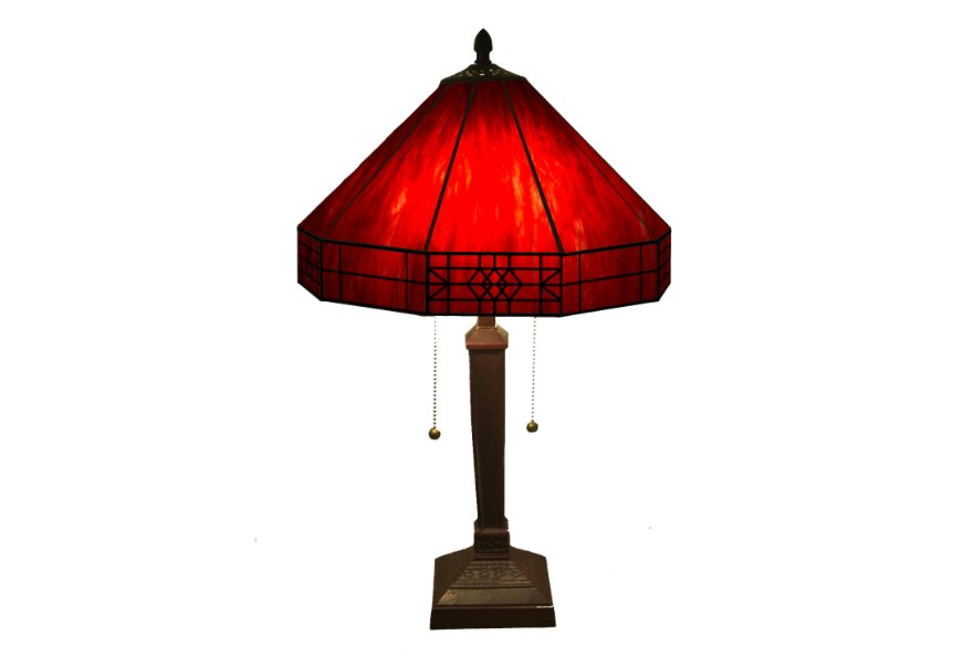 Table Lamp Tiffany Style Lamps Amor Lighting Red House Living Room Home Decor